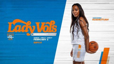 Tennessee Women's Basketball takes on rival Vanderbilt Commodores Sunday at Memorial Gymnasium. (UT Athletics)