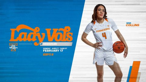 Tennessee Women's Basketball plays Missouri in Columbia late Sunday afternoon. (UT Athletics)