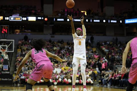Tennessee Women's Basketball sophomore forward Rennia Davis had 16 points in Lady Vols victory over Missouri. (UT Athletics)