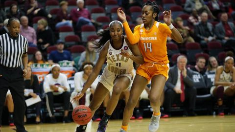 Tennessee Women's Basketball loses on the road to #21/22 Texas A&M, 79-62. (UT Athletics)