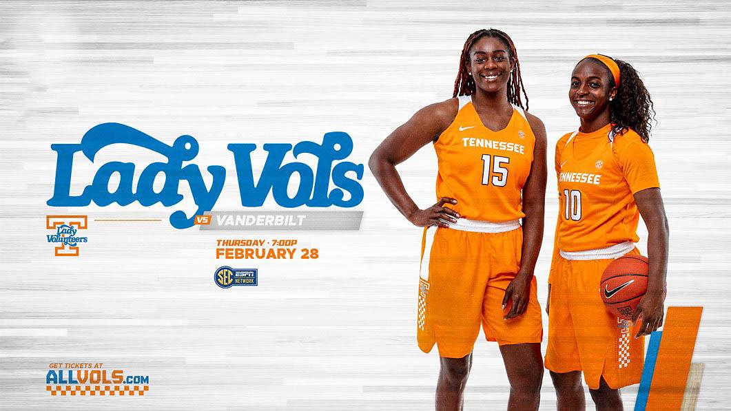 Tennessee Women's Basketball takes on Vanderbilt Thursday at Thompson-Boling Arena. (UT Athletics)