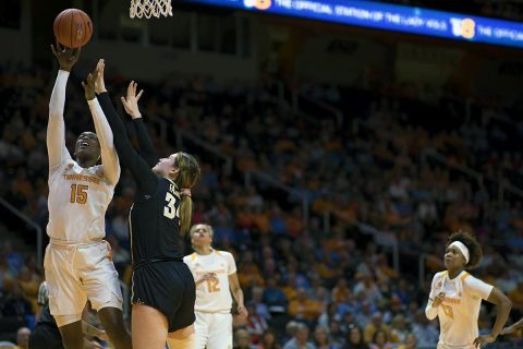 Tennessee Women's Basketball forward Cheridene Green scored a career high 20 points in loss to Vanderbilt Thursday night. (UT Athletics)