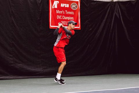Austin Peay Men's Tennis looks to finish three game roadtrip with win at Valdosta State. (APSU Sports Information)