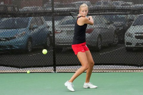 Austin Peay Women's Tennis senior Helena Kuppig leads Govs to victory of Stetson. (APSU Sports Information)