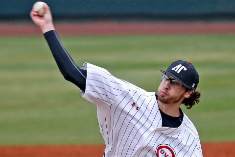 Austin Peay Baseball pitcher Brandon Vial has good start in loss to Murray State, Monday. (APSU Sports Information)