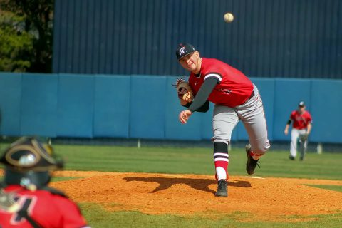 Austin Peay Baseball pitcher Jacques Pucheu hold Murray State scoreless in 2-0 win. (APSU Sports Information)