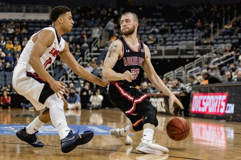 Austin Peay Men's Basketball senior point guard Zach Glotta had 14 points in loss to Belmont, Friday, at OVC Tournament. (APSU Sports Information)