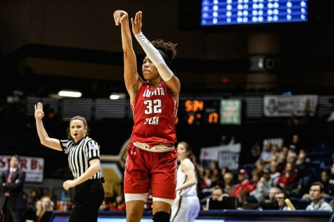 Austin Peay Women's Basketball sophomore Brianah Ferby scored a season-high 21 points in loss to Murray State Saturday. (APSU Sports Information)