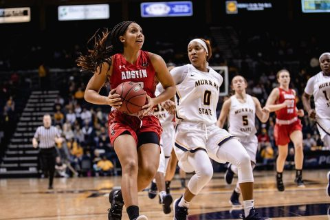 Austin Peay Women's Basketball begins OVC Tournament Thurday afternoon against Tennessee Tech. (APSU Sports Information)