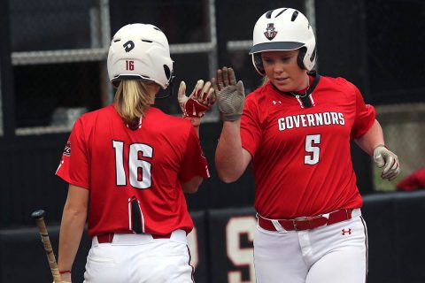 Austin Peay Softball junior Danielle Liermann went 3-3 Sunday morning against Radford. (APSU Sports Information)