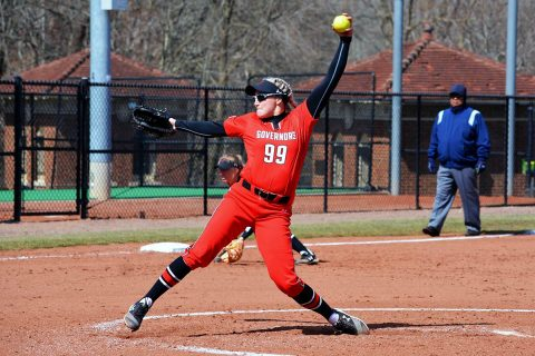 Austin Peay Softball pitcher Morgan Rackel shuts down Eastern Illinois in 9-0 road win Sunday. (APSU Sports Information)