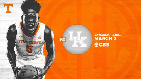 Tennessee Men's Basketball plays Kentucky at Thompson-Boling Area looking to stay alot the SEC. (UT Athletics)