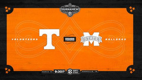 Tennessee Men's Basketball begins SEC Tournament Friday night against Mississippi State. (UT Athletics)