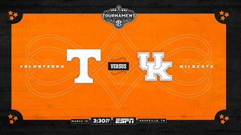 Tennessee Men's Basketball faces the Kentucky Wildcats Saturday afternoon in the SEC Tournament semifinals at Bridgestone Arena. (UT Athletics)