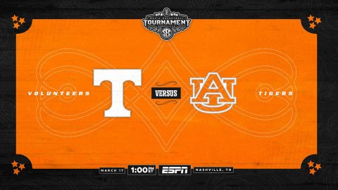 Tennessee Men's Basketball plays Auburn Saturday in the SEC Tournament Championship game. (UT Athletics)