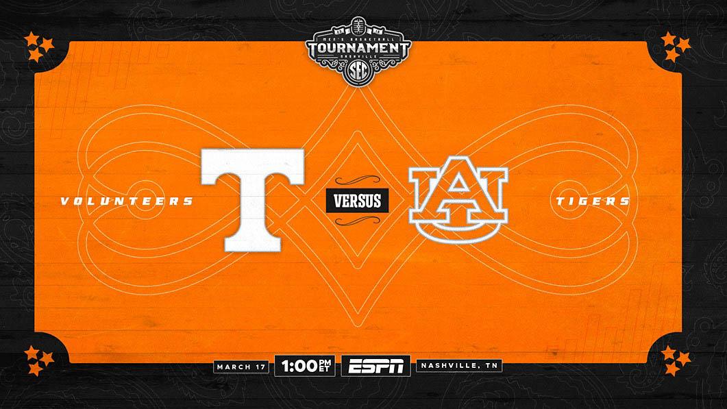 Tennessee Men's Basketball plays Auburn Saturday in the SEC Tournament Championship game. (UT Athletics)