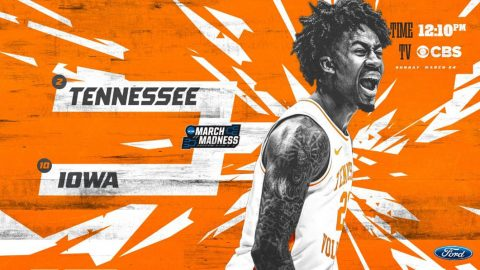 Tennessee Men's Basketball faces Iowa in second round of the NCAA Tournament Sunday at Nationwide Arena. (UT Athletics)
