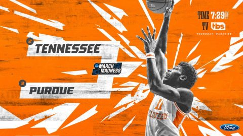 Tennessee Men's Basketball heads to Louisville Kentucky to take on Purdue in the Sweet Sixteen round of the NCAA Tournament. (UT Athletics)