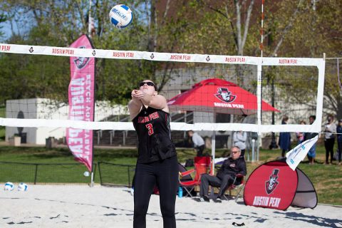 Austin Peay Beach Volleyball fell 4-1 to Texas A&M-Corpus Christi at the March to May Invitational, Friday. (APSU Sports Information)