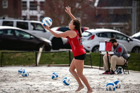 Austin Peay Beach Volleyball unable to get going against #15 Arizona Saturday morning at the Seminole Beach Battle. (APSU Sports Information)