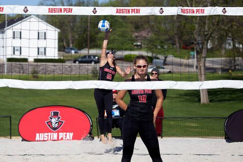 Austin Peay Beach Volleyball loses to New Orleans 5-0 Saturday. (APSU Sports Information)