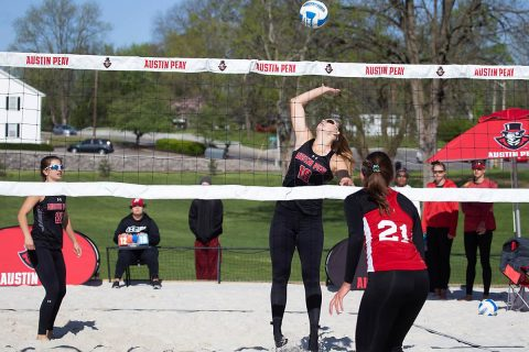 Austin Peay Beach Volleyball unable to get on track Sunday at March to May Invitational. (APSU Sports Information)