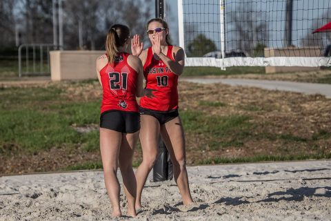 Austin Peay Beach Volleyball returns home for three days of matches. (APSU Sports Information)