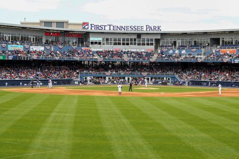 11,824 Nashville Sounds Fans Take in First Major League Baseball Exhibition Game in Nashville Since 1999. (Nashville Sounds)