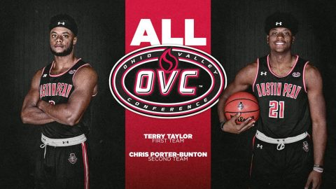 APSU Men's Basketball's Terry Taylor and Chris Porter-Bunton earn All-OVC recognition. (APSU Sports Information)