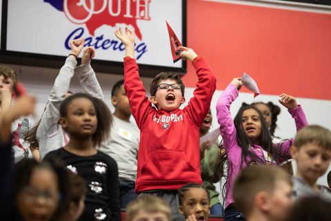 "More than 700 Clarksville-Montgomery County School System third-graders visited Austin Peay State University recently on ""Ready to Gov"" Day to introduce the children to higher education and to their local university campus."