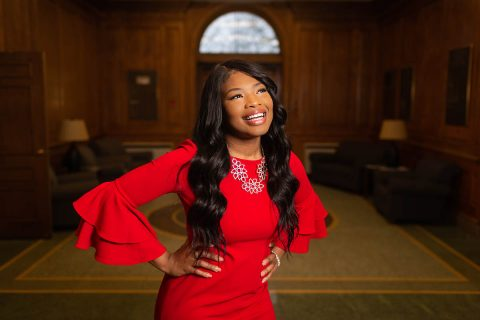 Austin Peay State University senior Sierra Salandy is serving as legislative intern in state Sen. Brenda Gilmore's office at the Tennessee General Assembly. (APSU)