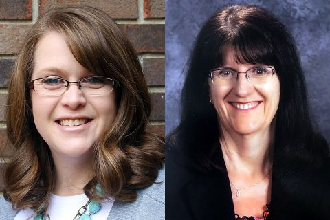 Clarksville-Montgomery County School System music teachers (L to R) Denise Rives and Robin Johnston to be honored by the CMA Foundation.