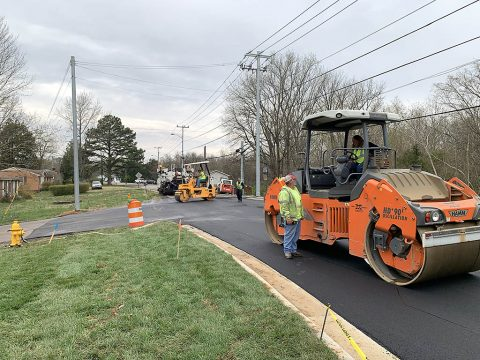 Construction continues on signals, sidewalks.