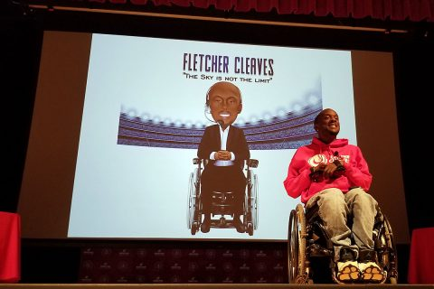 Fletcher Cleaves at the Spring Break Distracted Driving IMPACT Panel.