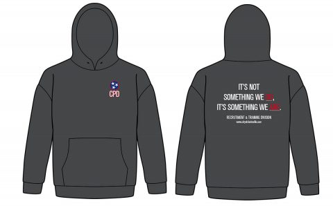 Clarksville Police Department's Professional Integrity Unit Sweatshirt Designed by Rossview High School Students