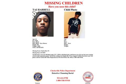 Clarksville Police are looking for Tai Harrell.