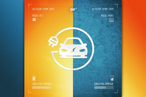 AAA research finds HVAC use in frigid temperatures causes substantial drop in electric vehicle range. (AAA)
