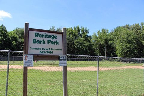 Heritage Park Dog Park fencing repaired after vehicle accident.