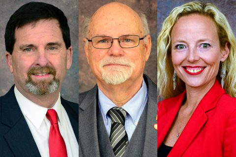 Clarksville Mayor Joe Pitts names (L to R) Jeff Burkhart, Ron Erb and Stacey Streetman to ad-hoc committee.