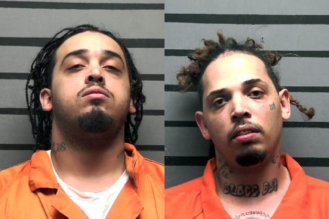 (L) Jordan Hairston and (R) Jeffrey Hairston have been arrested in Madisonville Kentucky and are awaiting extraditon to Clarksville.