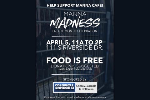 Manna Madness Cookout set for April 5th.
