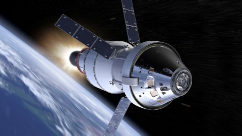 Goddard will provide laser communications services to NASA's Orion vehicle, shown in this artist concept. (NASA)