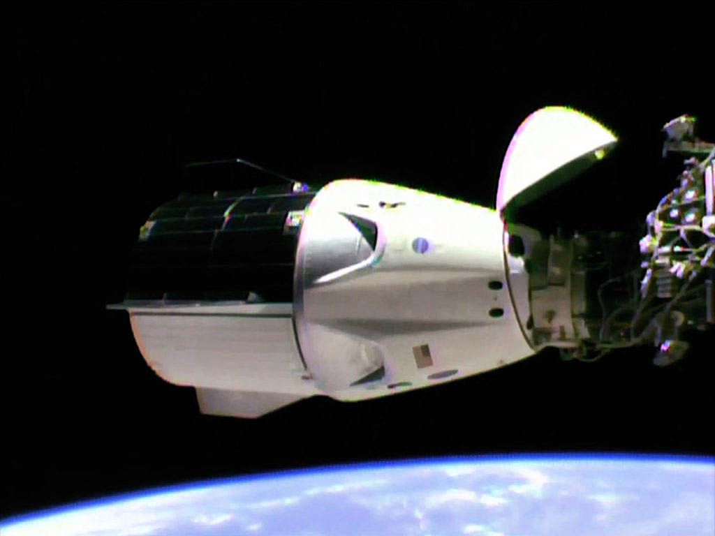 NASA reports SpaceX Crew Dragon Successfully Docks to ...