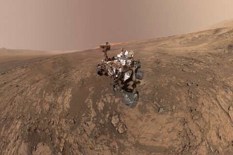 Data from NASA's Curiosity Mars rover were used in a new paper studying how asteroids impacting the ancient Martian atmosphere could have produced key ingredients to life. Those data were provided by Curiosity's Sample Analysis at Mars instrument. (NASA/JPL-Caltech/MSSS)