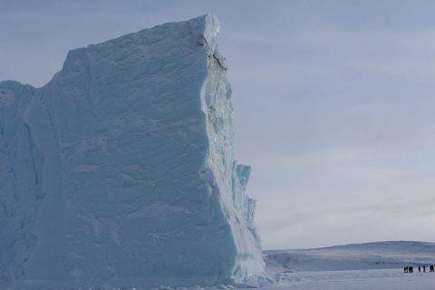 A large iceberg near Thule Air Base, Greenland. (NASA)