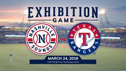 Limited Number of Reserved Seats Remain Available for Nashville Sounds Exhibition Game against Texas Rangers. (Nashville Sounds)