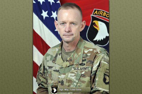 Sgt. Maj. Todd Sims