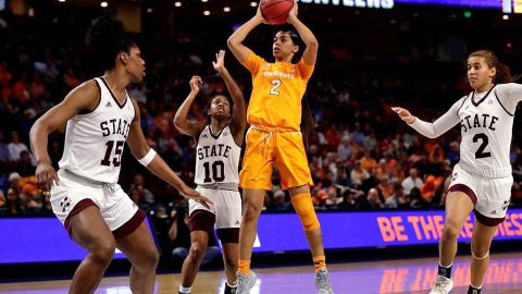 Tennessee Women's Basketball unable to keep up with Mississippi State in 83-68 loss Friday in the SEC Tournament. (UT Athletics)