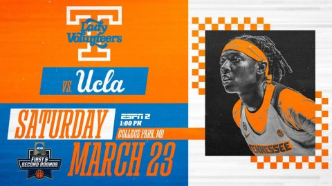 Tennessee Women's Basketball to take on UCLA in the first round of the 2019 NCAA Tournament, Saturday. (UT Athletics)