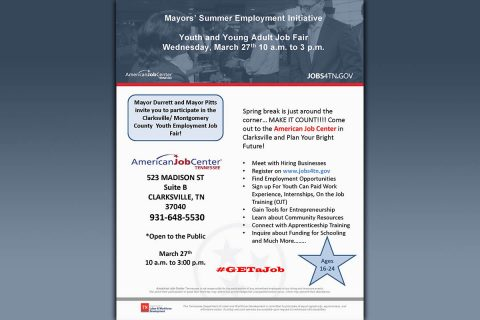 Clarksville-Montgomery County Youth Job Fair to be held March 27th.